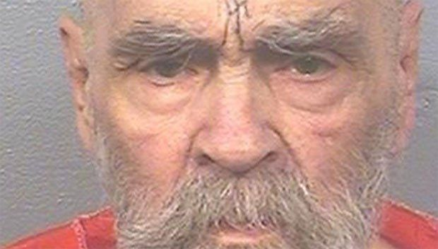 Image may contain: The Manson family, Charles Manson, leader, cult, prison, death, when died, mugshot, now, latest, young, victims, serial killer, murder, crimes, Manson family massacre, tex watson, susan atkins, sharon tate, debra tate, kill, real life, story, Painting, Art, Head, Beard, Face