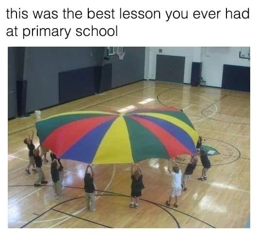 Image may contain:  90s kid memes, school, uk, meme, tweet, reaction, funny, 00s, 90s, nostalgic, PE, kids, rainbow, matt,  People, Human, Person