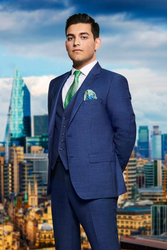 Image may contain: The Apprentice candidates 2019, The Apprentice, 2019, new, series, cast, hopefuls, candidates, lineup, contestants, Sir Alan Sugar, BBC, Dean Ahmad, Architecture, Man, Metropolis, Human, Person, Jacket, Blazer, Town, High Rise, City, Urban, Building, Overcoat, Coat, Suit, Clothing, Apparel, Accessories, Tie, Accessory