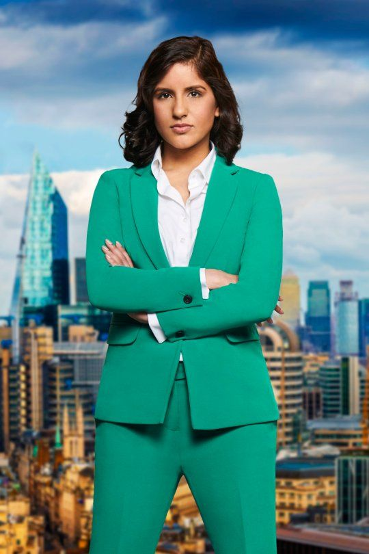 Image may contain: The Apprentice candidates 2019, The Apprentice, 2019, new, series, cast, hopefuls, candidates, lineup, contestants, Sir Alan Sugar, BBC, Iasha Masood, Architecture, Office Building, Woman, Metropolis, Jacket, Blazer, Coat, Overcoat, Suit, Female, Human, Person, High Rise, City, Town, Building, Urban, Apparel, Clothing