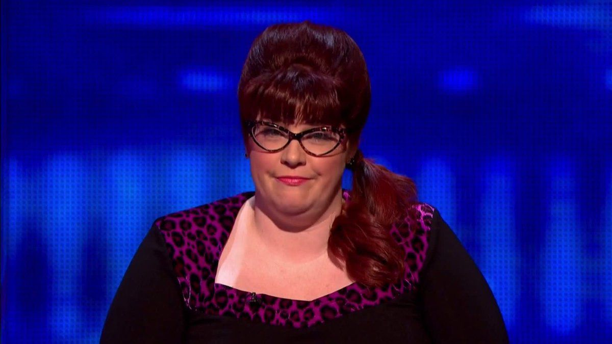 Image may contain: Celebrity X Factor cast, X Factor, celebrity, cast, contestants, lineup, Jenny Ryan, The Vixen,  Clothing, Apparel, Night Life, Hair, Accessories, Glasses, Accessory, Face, Person, Human