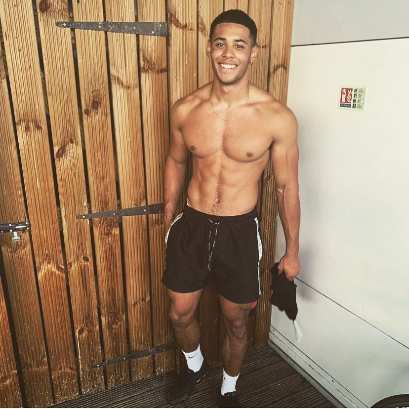 Image may contain: first winter Love Island contestant, winter, Love Island, Ellis Iyayi, 2020, cape town, south africa, contestant, cast, lineup, rumours, fitness, instructor, man, boy, new, Clothing, Shorts, Apparel, Man, Person, Human