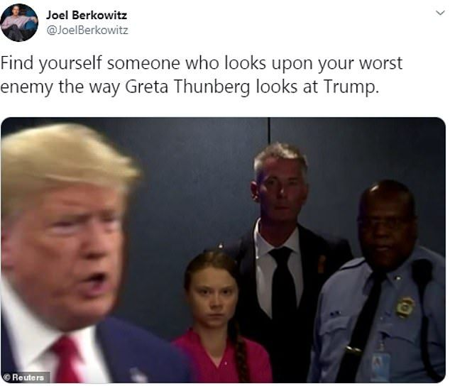 Image may contain:  Greta Thunberg memes, Greta Thunberg, speech, UN, Climate Action Summit, New York, Donald Trump, death stare, activist, environment, meme, reaction, Twitter, age, video, global warming, tweet, planet, Crowd, People, Accessories, Tie, Accessory, Coat, Overcoat, Apparel, Suit, Clothing, Person, Human