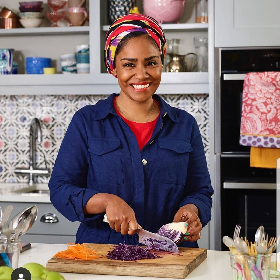 Image may contain: reality TV rich list, UK, reality TV, net worth, earnings, money, salary, rich, worth, Nadiya Hussain, Great British Bake Off, Cupboard, Closet, Clothing, Helmet, Apparel, Furniture, Shelf, Person, Human
