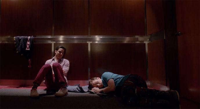 Image may contain: Elevator, Sleeping, Asleep, Lighting, Person, Human