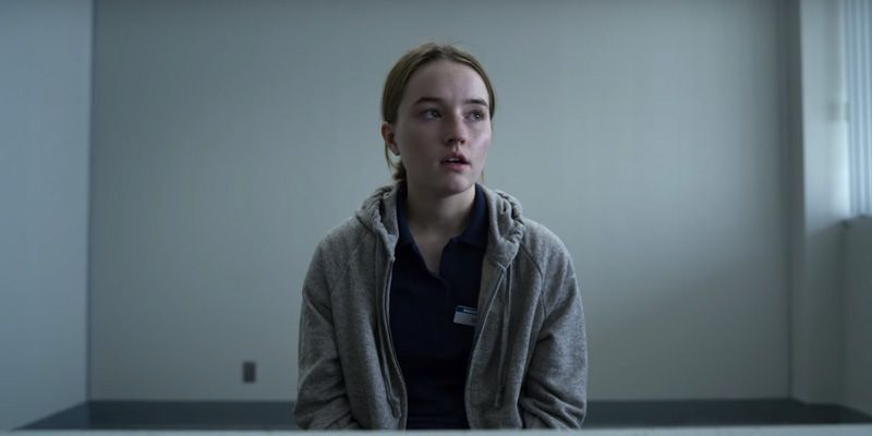 Image may contain: real life Marie Adler, Marie Adler, Unbelievable, Netflix, real life, true story, now, events, crime, interview, speaks out, opinion, review, show, series, thriller, story, Kaitlyn Dever, Face, Sweater, Sweatshirt, Sleeve, Man, Apparel, Clothing, Human, Person