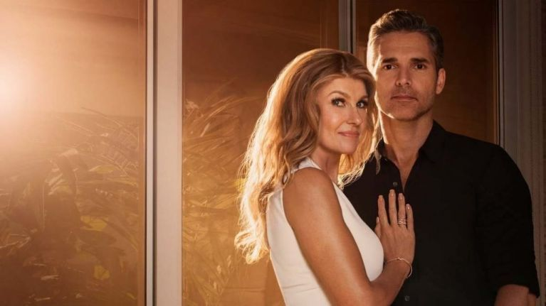 Image may contain: Dirty John season two, The Betty Broderick story, case, court, Betty Broderick, divorce, wife, true story, real life, crime, new, episodes, about, plot, release date, cast, Netflix, Dirty John, Female, Fashion, Gown, Evening Dress, Robe, Dating, Clothing, Apparel, Face, Person, Human