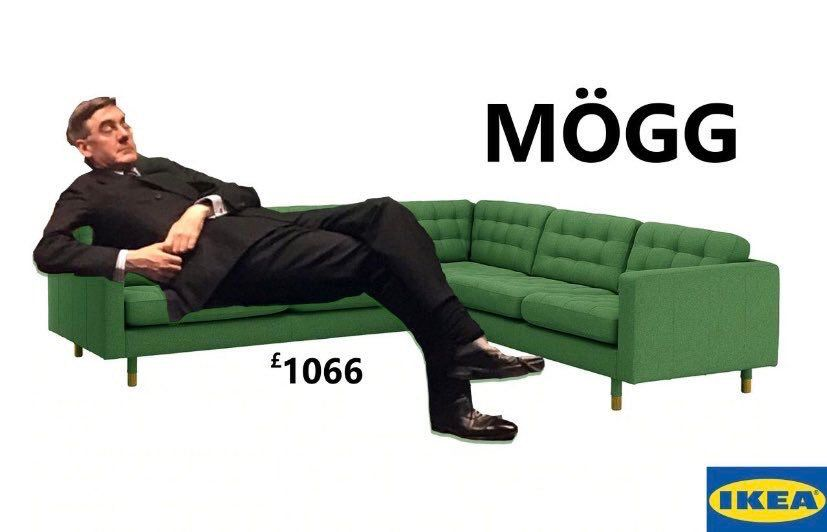 Image may contain: Jacob Rees-Mogg memes, Jacob Rees-Mogg, meme, slouch, asleep, Parliament, Brexit, House of Commons, debate, slump, IKEA, Footwear, Cushion, Asleep, Sleeping, Apparel, Clothing, Couch, Furniture, Human, Person, Sitting