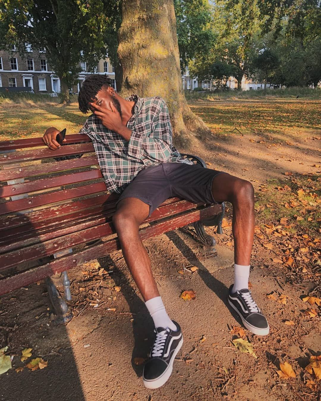 Image may contain: Top Boy cast, Top Boy, season 3, Netflix, Alessandro Babalola, Haze, Ground, Bench, Furniture, Sitting, Person, Human, Apparel, Footwear, Shoe, Clothing