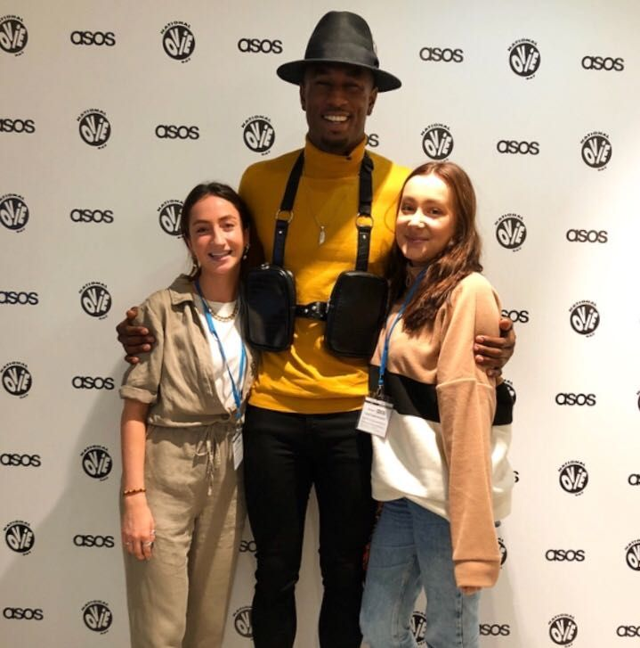 Image may contain: Hat, Pants, Clothing, Apparel, Red Carpet Premiere, Red Carpet, Premiere, Fashion, Person, Human, Ovie Soko, ASOS, Love Island, Love Island gossip, Love Island latest news, Love Island rumours