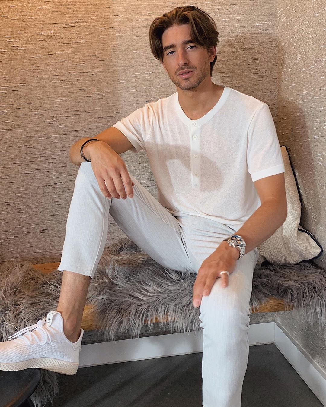 Image may contain: Made in Chelsea fake followers, Made in Chelsea, MIC, cast, Instagram, fake, followers, real, Harry Baron, comments, likes, Human, Person, Shoe, Footwear, Apparel, Clothing