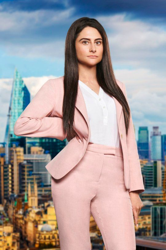 Image may contain: The Apprentice candidates 2019, The Apprentice, 2019, new, series, cast, hopefuls, candidates, lineup, contestants, Sir Alan Sugar, BBC, Carina Lepore, Jacket, Blazer, High Rise, Building, Town, City, Urban, Suit, Overcoat, Coat, Woman, Apparel, Clothing, Person, Female, Human