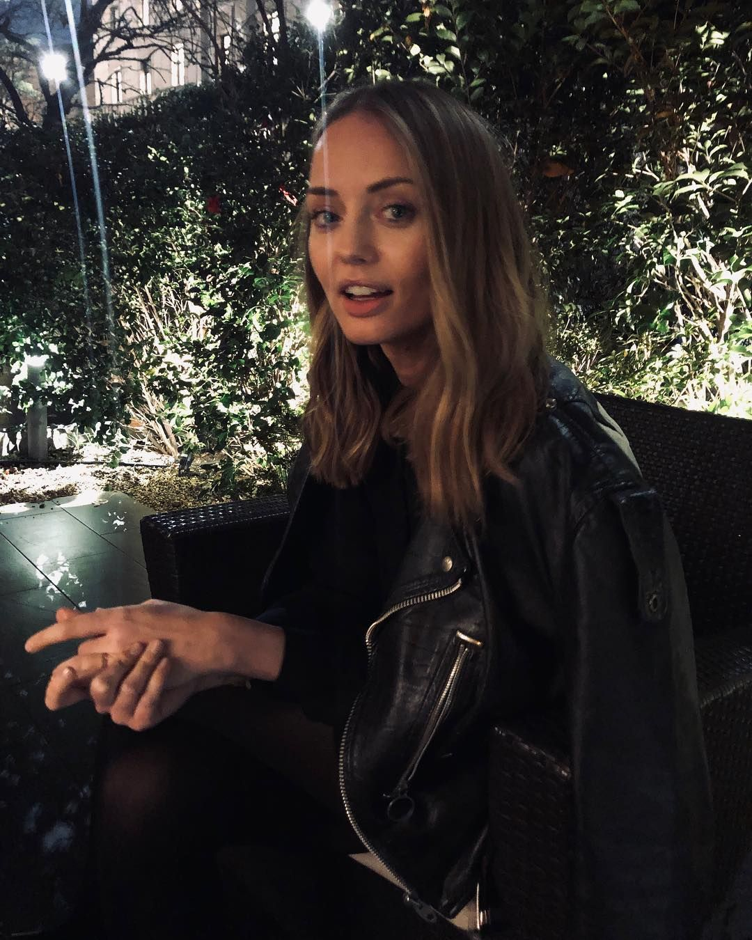 Image may contain: The Capture cast, The Capture, BBC, Laura Haddock, Hannah Roberts, drama, show, new, conspiracy, CCTV, about, plot, Leather Jacket, Human, Person, Coat, Jacket, Clothing, Apparel