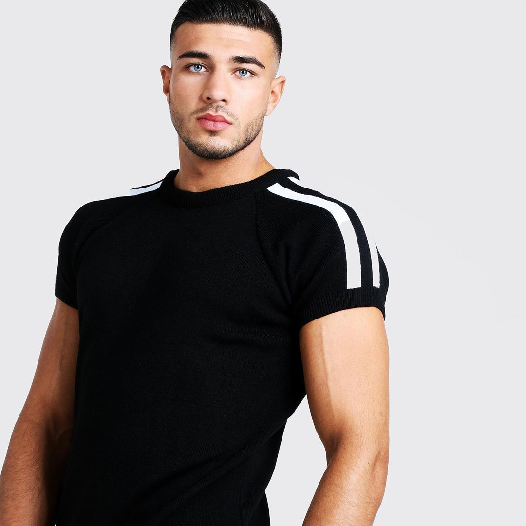 Image may contain:  Love Island 2019 contestants, Love Island, 2019, now, job, Instagram, updates, news, latest, series five, Tommy Fury, Man, Long Sleeve, Person, Human, T-Shirt, Sleeve, Clothing, Apparel