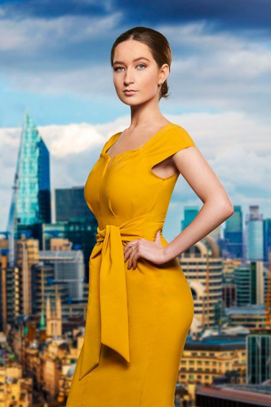 Image may contain: The Apprentice candidates 2019, The Apprentice, 2019, new, series, cast, hopefuls, candidates, lineup, contestants, Sir Alan Sugar, BBC, Lottie Lion, Metropolis, Human, Person, High Rise, City, Urban, Building, Town, Clothing, Apparel, Robe, Fashion, Gown, Evening Dress