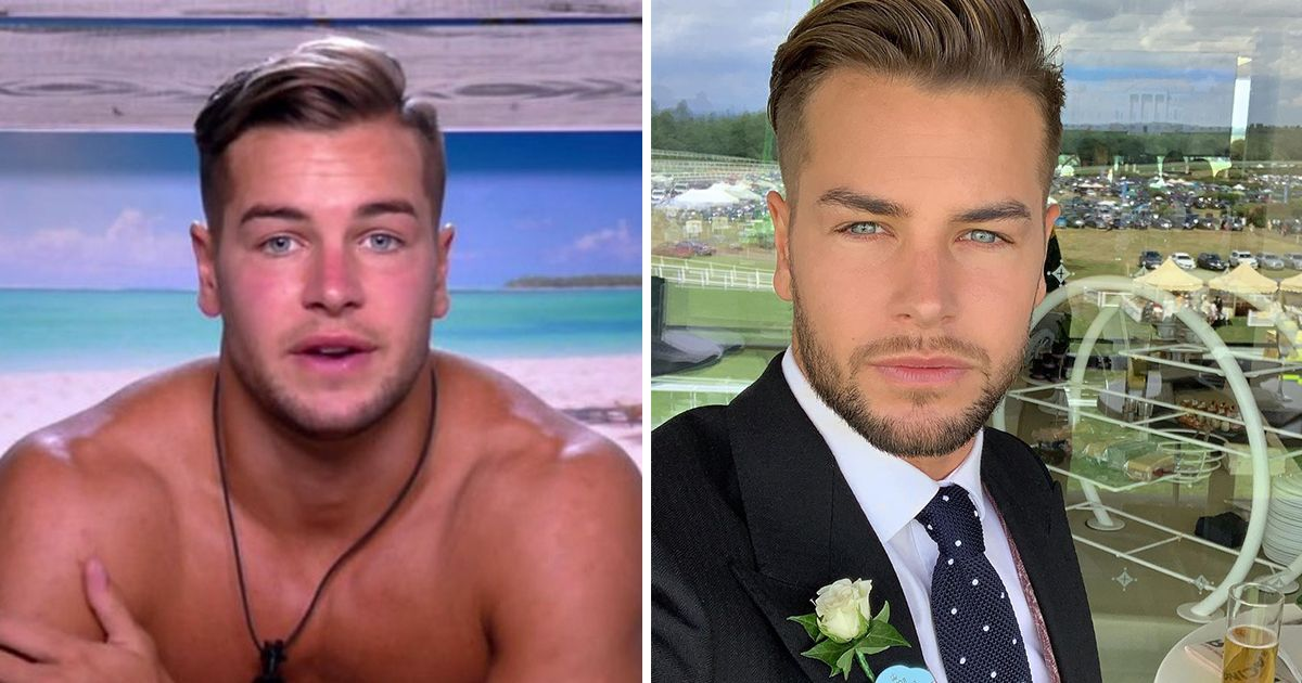 Image may contain: Love Island transformations, Love Island, 2017, series three, Chris Hughes, then, now, before, after, plastic, cosmetic, surgery, filler, lips, boob job, veneers, teeth, glow up, change, Necklace, Jewelry, Head, Portrait, Photography, Photo, Plant, Advertisement, Collage, Poster, Man, Face, Apparel, Clothing, Overcoat, Coat, Suit, Human, Person, Tie, Accessory, Accessories