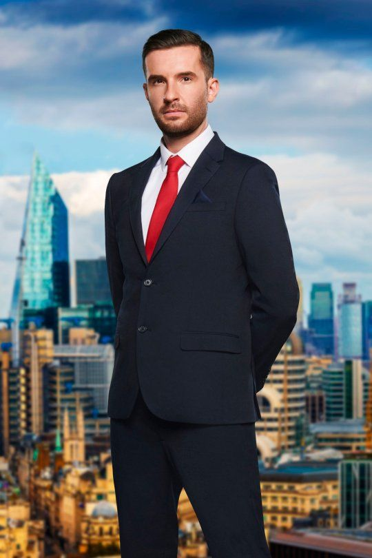 Image may contain: The Apprentice candidates 2019, The Apprentice, 2019, new, series, cast, hopefuls, candidates, lineup, contestants, Sir Alan Sugar, BBC, Riyonn Farsad, Office Building, Downtown, Architecture, Man, Human, Person, Metropolis, Blazer, Jacket, Overcoat, Suit, Coat, High Rise, Urban, Building, City, Town, Clothing, Apparel, Accessories, Accessory, Tie