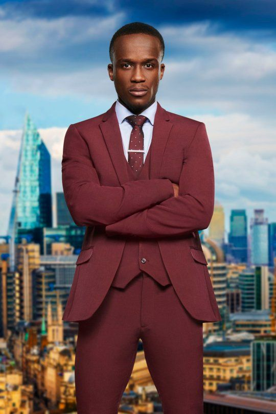 Image may contain: The Apprentice candidates 2019, The Apprentice, 2019, new, series, cast, hopefuls, candidates, lineup, contestants, Sir Alan Sugar, BBC, Kenna Ngoma, Office Building, Man, Architecture, Blazer, Jacket, Person, Human, High Rise, Overcoat, Suit, Coat, Town, Building, Metropolis, Urban, City, Apparel, Clothing, Tie, Accessories, Accessory