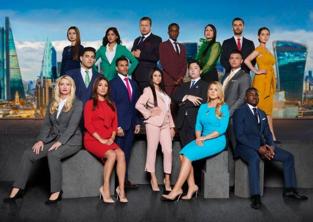 Image may contain: The Apprentice candidates 2019, The Apprentice, 2019, new, series, cast, hopefuls, candidates, lineup, contestants, Sir Alan Sugar, BBC, Overcoat, Suit, Audience, Crowd, Sitting, Female, People, Coat, Blazer, Jacket, Clothing, Shoe, Apparel, Footwear, Person, Human