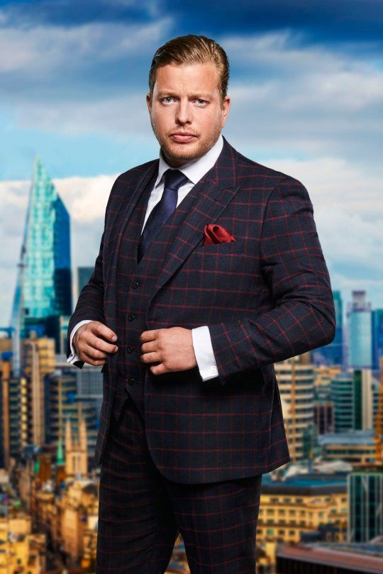 Image may contain: The Apprentice candidates 2019, The Apprentice, 2019, new, series, cast, hopefuls, candidates, lineup, contestants, Sir Alan Sugar, BBC, Thomas Skinner, Plaid, Tartan, Man, High Rise, Urban, City, Town, Building, Person, Human, Suit, Overcoat, Jacket, Blazer, Coat, Accessory, Tie, Accessories, Clothing, Apparel