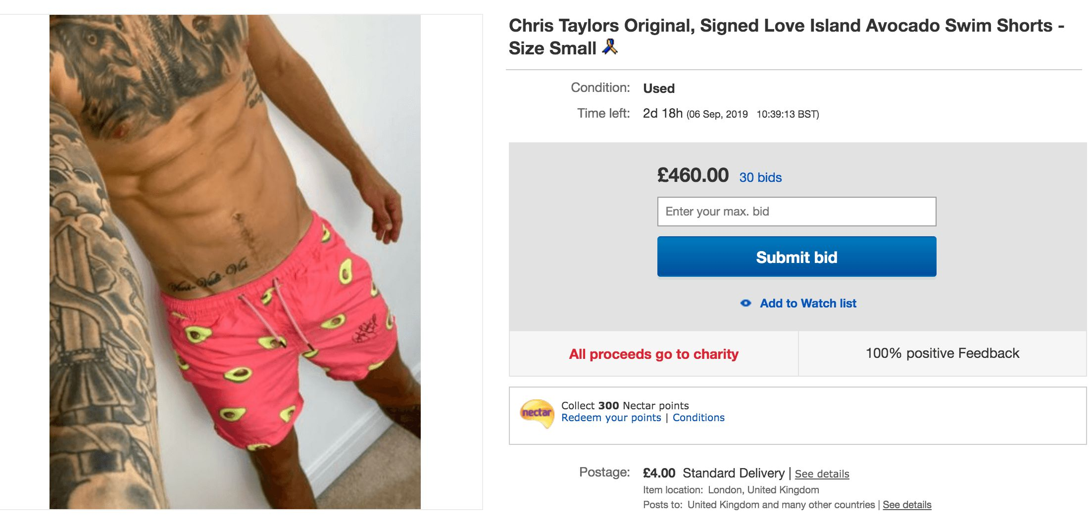 Chris is selling all of his Love Island merch on eBay for