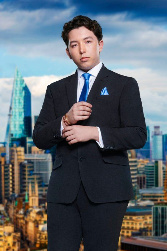 Image may contain: The Apprentice candidates 2019, The Apprentice, 2019, new, series, cast, hopefuls, candidates, lineup, contestants, Sir Alan Sugar, BBC, Ryan Mark Parsons, Tower, Steeple, Spire, Man, Architecture, Human, Person, Jacket, Blazer, Coat, Overcoat, Suit, Metropolis, Clothing, Apparel, Accessory, Tie, Accessories, High Rise, City, Building, Town, Urban
