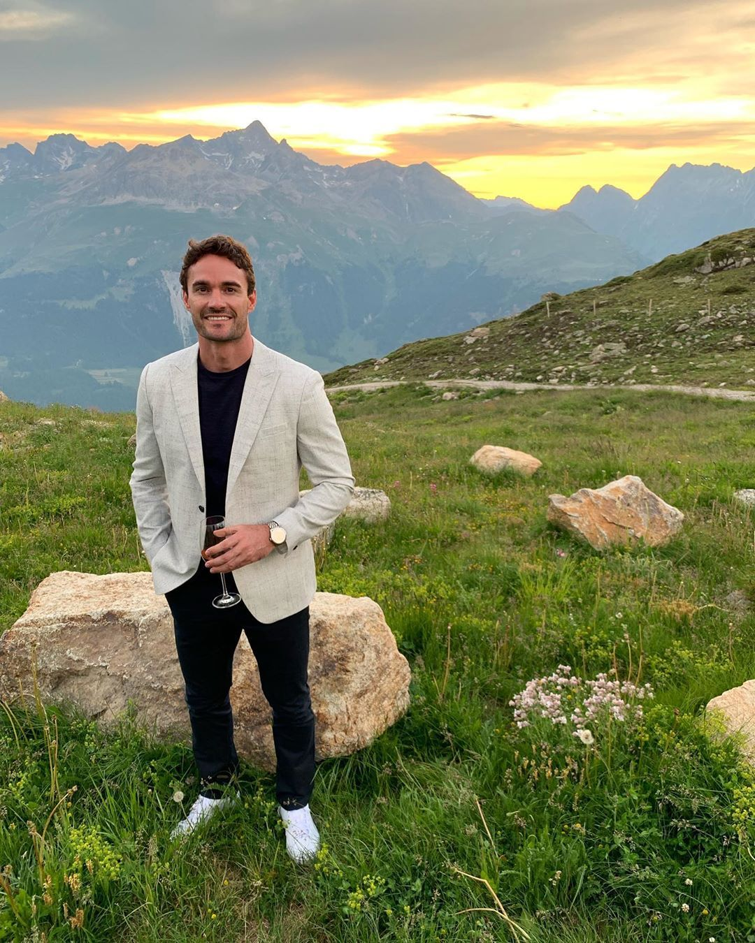 Image may contain: Celebrity X Factor cast, X Factor, celebrity, cast, contestants, lineup, Thom Evans, Ben Foden, Levi Davis, rugby, players, ITV, start date, Simon Cowell, Vegetation, Plant, Wilderness, Overcoat, Jacket, Blazer, Coat, Land, Nature, Human, Person, Outdoors, Slope, Apparel, Clothing