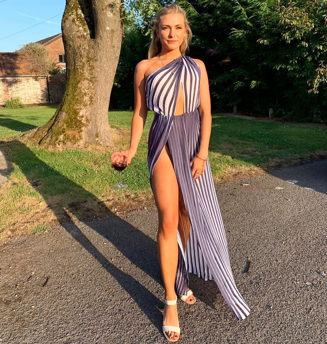Image may contain: Made in Chelsea fake followers, Made in Chelsea, MIC, cast, Instagram, fake, followers, real, Verity Bowditch, comments, likes, Woman, Female, Human, Person, Clothing, Evening Dress, Fashion, Gown, Apparel, Robe