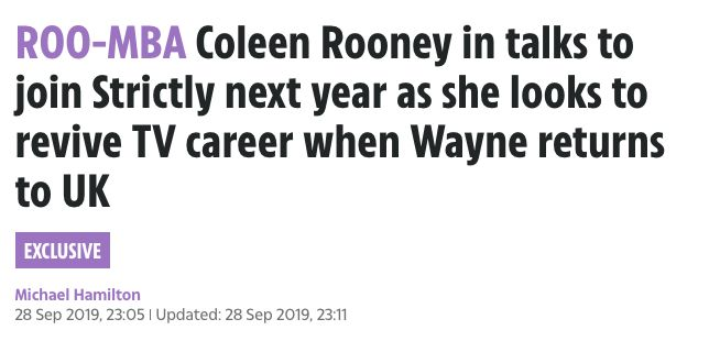 Image may contain: Face, Text, Coleen Rooney, Rebekah Vardy, The Sun,