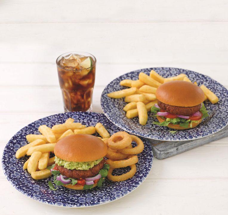 Image may contain: Fries, Food, Burger