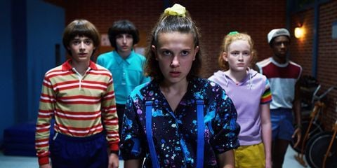 Image may contain: Best Netflix series, original, Netflix, series, show, Stranger Things, UK, US, worldwide, top, popular, good, tv, binge, season, best, funny, drama, horror, sci-fi, People, Crowd, Apparel, Clothing, Face, Female, Person, Human