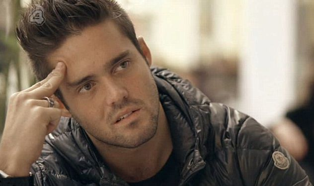 Image may contain: made in chelsea cheating, made in chelsea, Portrait, Photography, Photo, Apparel, Jacket, Coat, Clothing, Man, Face, Person, Human