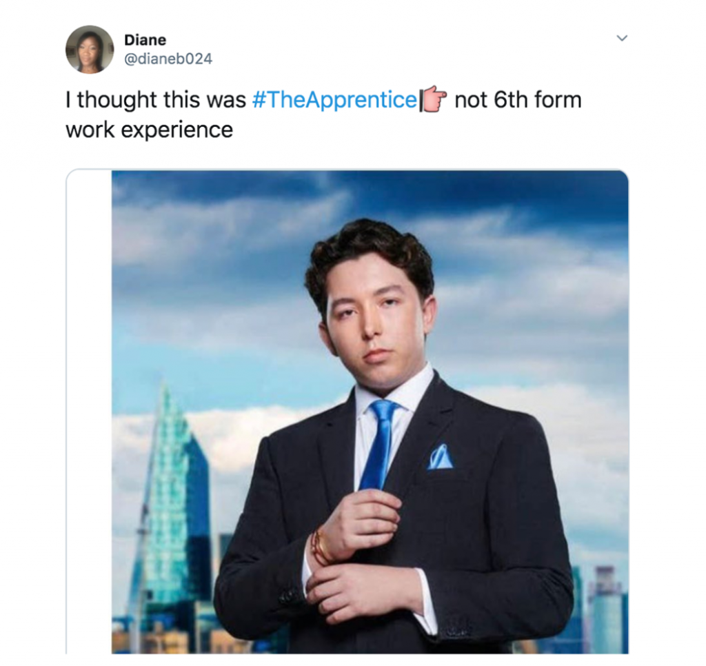 The Apprentice memes, The Apprentice, meme, reaction, BBC One, funny, apprentice, reaction, tweet, savage, Ryan Mark Parsons, Ryan,