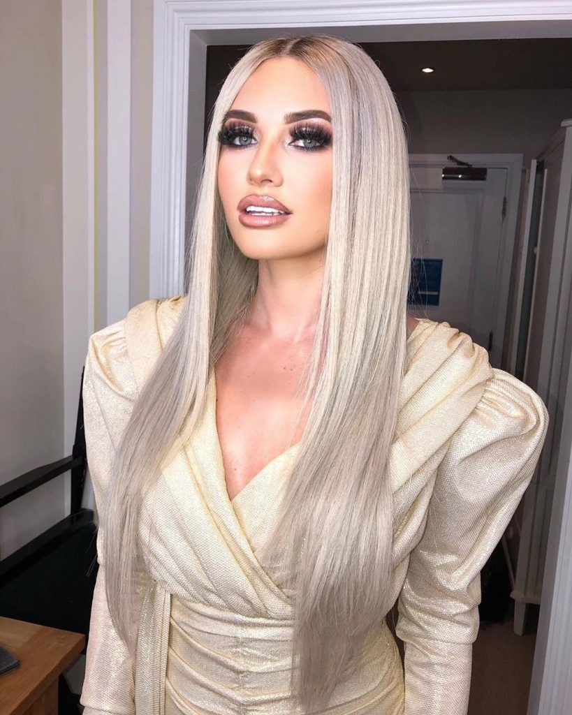 Amy Hart, Love Island, 2019, transformation, then, now, unrecognisable, Instagram, hair, silver, blonde, makeover