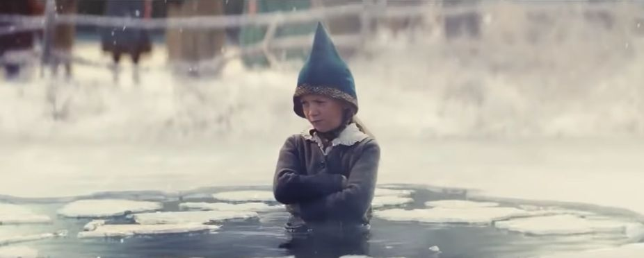 Image may contain: Face, Hood, Helmet, Coat, Human, Person, Clothing, Apparel, john lewis christmas ad 2019, john lewis, john lewis christmas advert youtube, john lewis christmas advert 2019 youtube, edgar, dan smith, bastille, excitable edgar