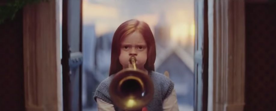 Image may contain: Person, Human, Brass Section, Cornet, Trumpet, Musical Instrument, Horn, john lewis christmas ad 2019, john lewis, john lewis christmas advert youtube, john lewis christmas advert 2019 youtube, edgar, dan smith, bastille, excitable edgar
