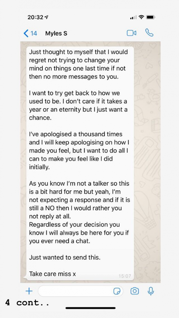 Gabby Allen, Myles Stephenson, ex, girlfriend, boyfriend, cheating, claims, messages, screenshots, leaked, texts, sexts, women, girls, I'm A Celebrity, Love Island, break up, split, Instagram