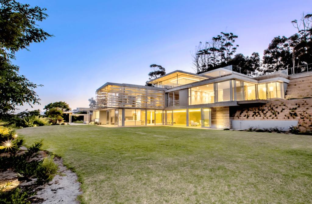 winter Love Island villa, winter, Love Island, 2020, South Africa, Cape Town, villa, house, outside, gardens