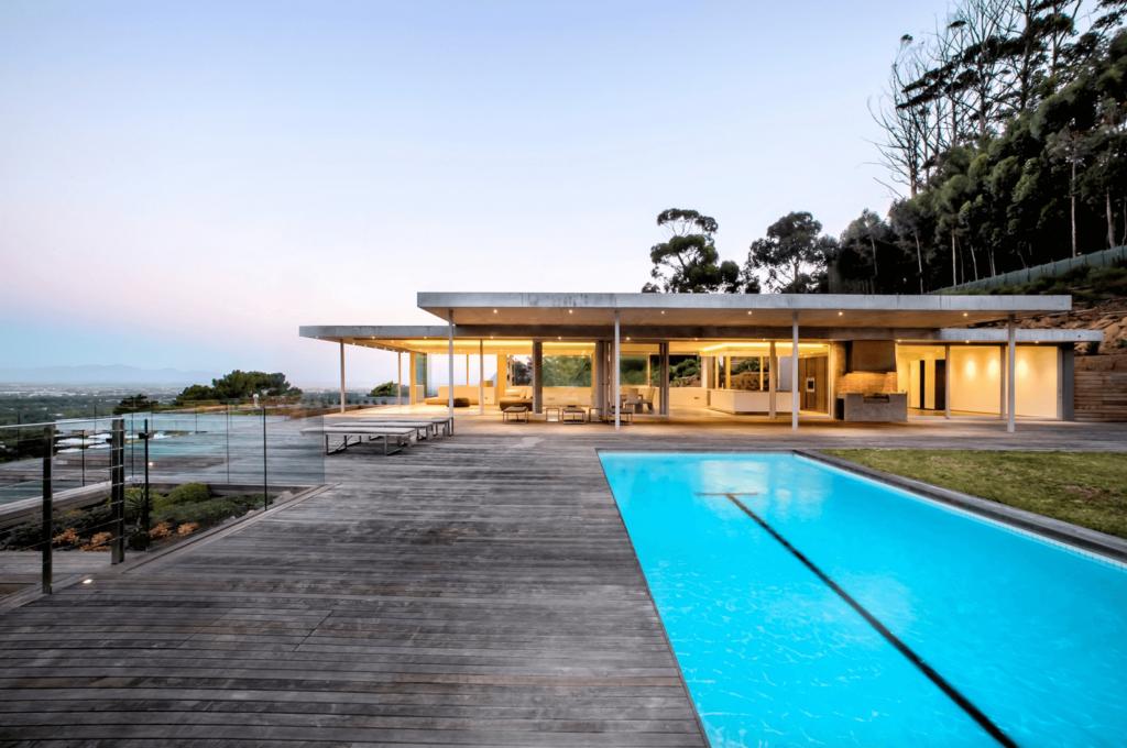winter Love Island villa, winter, Love Island, 2020, South Africa, Cape Town, villa, house, pool, fire pit