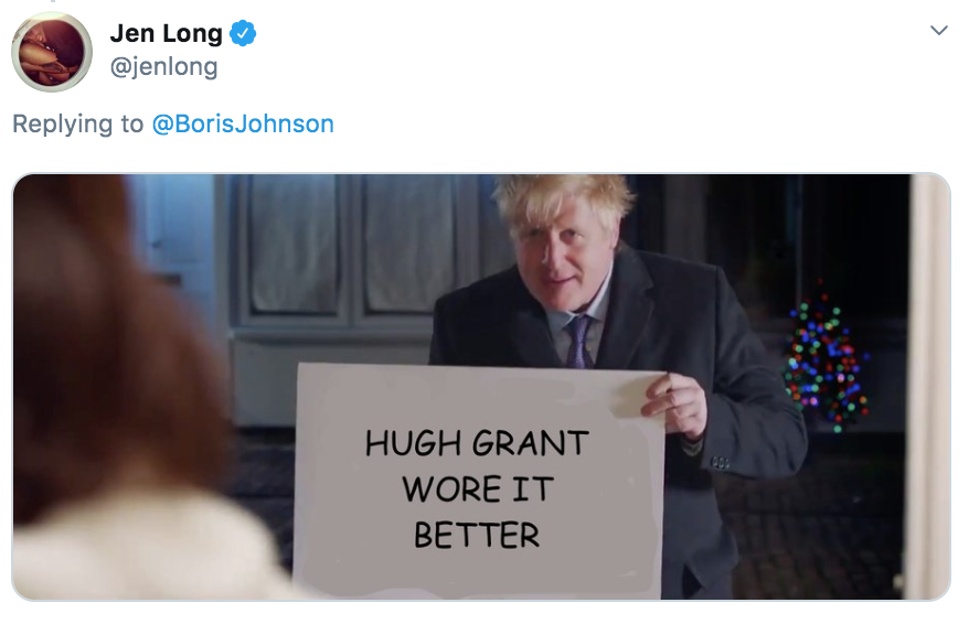 Boris Johnson Love Actually, Boris Johnson, Boris, Love Actually, Conservative, Tory, Tories, Party, election, campaign, video, memes, reactions, tweets, Twitter, funny, best, savage