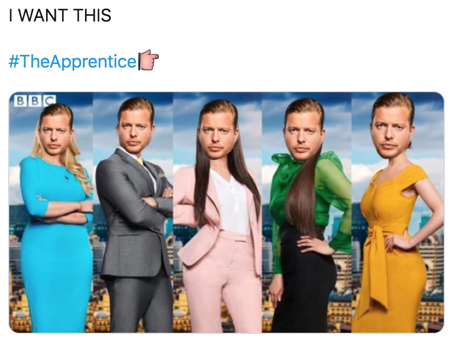 The Apprentice, 2019, final five, interviews, interview stage, memes, reactions, last night, fired, Lottie, Lewis, Pamela, Scarlett, Carina, final, apprentice, candidates, business plans