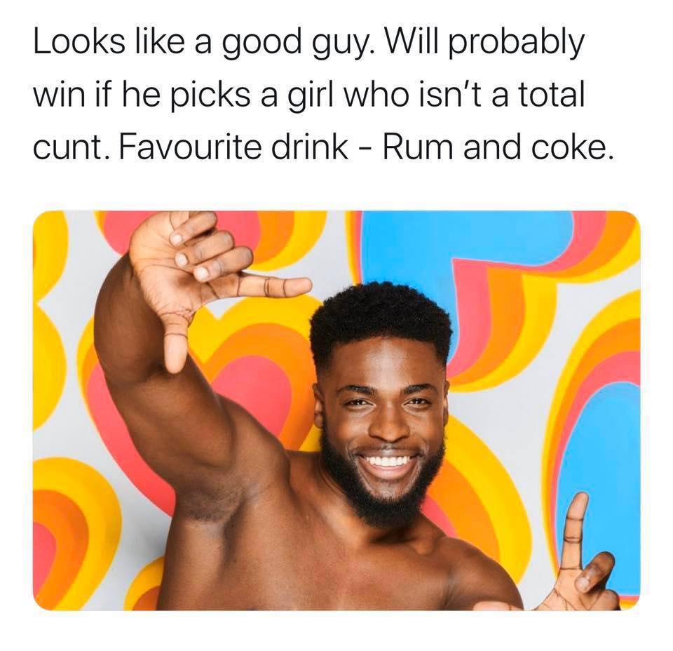 Love Island, Winter Love Island, winter, Cape Town, South Africa, Twitter, thread, judge, looks, meme, savage, hilarious, memes, Made In Poor Taste, 2020, cast, Islanders, contestants, lineup