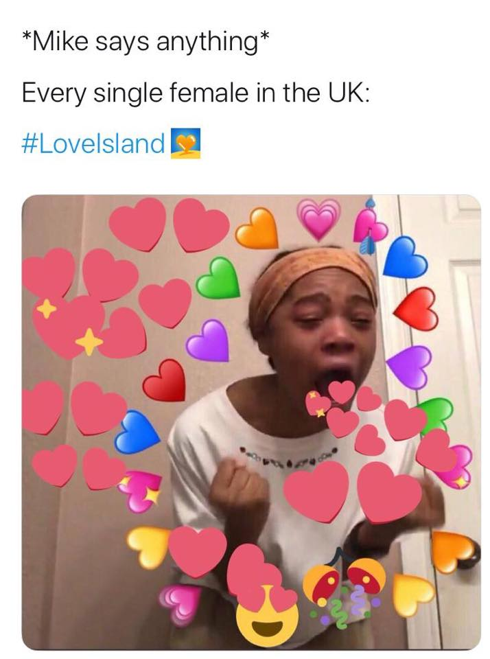 Love Island, memes, meme, reaction, Twitter, funny, savage, winter, winter love island, south africa, cape town, Mike