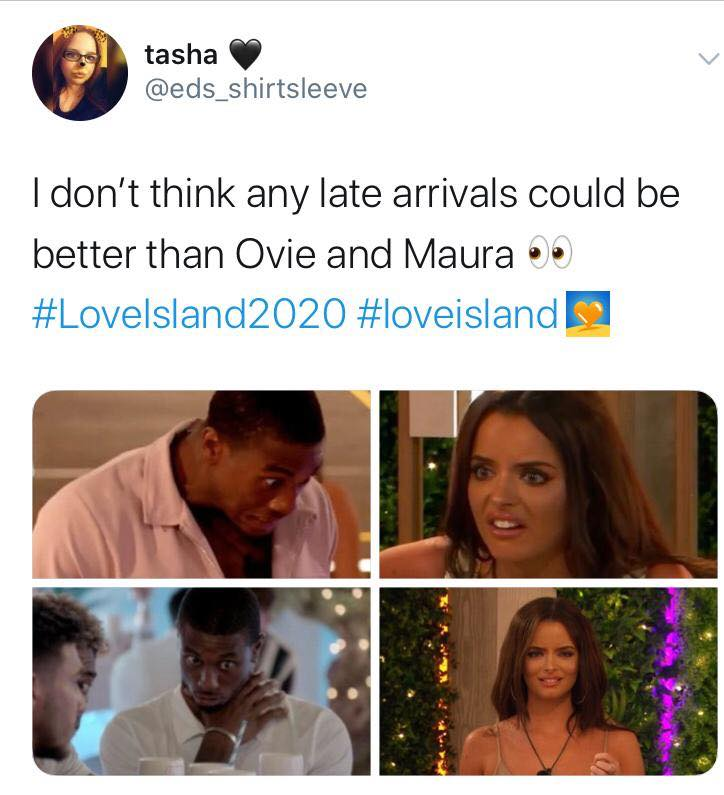 Love Island, memes, meme, reaction, Twitter, funny, savage, winter, winter love island, south africa, cape town, maura, ovie