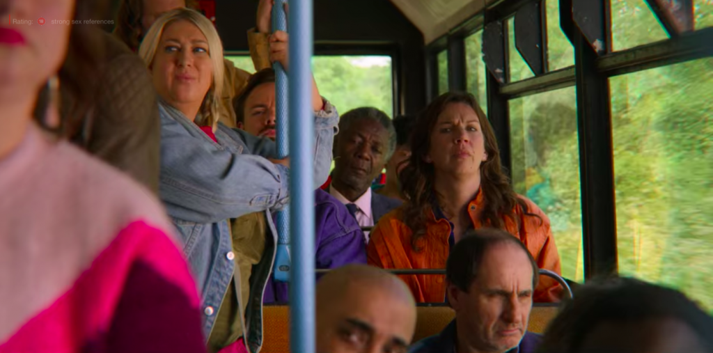 Sex Education Aimee bus scene, Otis, Maeve, Gillian Anderson, writer, sexuall assault, true story