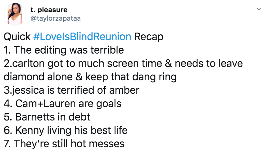 Love Is Blind reunion memes, Love Is Blind, reunion, meme, Netflix, Twitter, reaction, Carlton, Diamond, Jessica, Cameron, Lauren, Barnett, Kenny