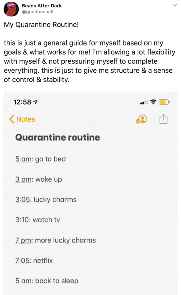 My quarantine routine memes, quarantine, routine, meme, format, funny, best, examples, Twitter, origin, start, explained, Coronavirus, COVID-19