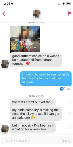 coronavirus meme tinder