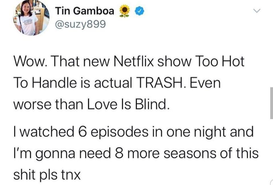 Too Hot To Handle, memes, Netflix, meme, reaction, Twitter, trash