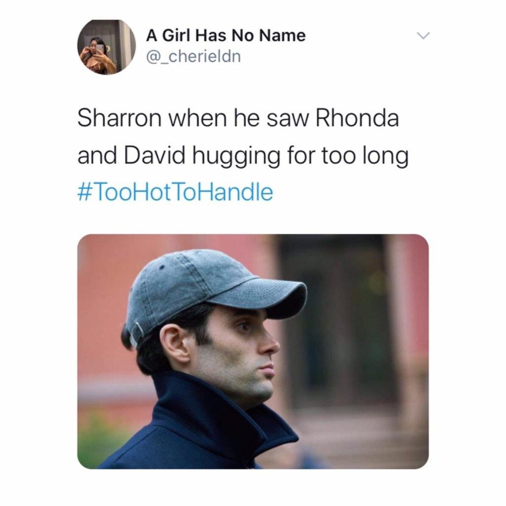 Too Hot To Handle, memes, Netflix, meme, reaction, Twitter, Sharron, Rhonda, Haley